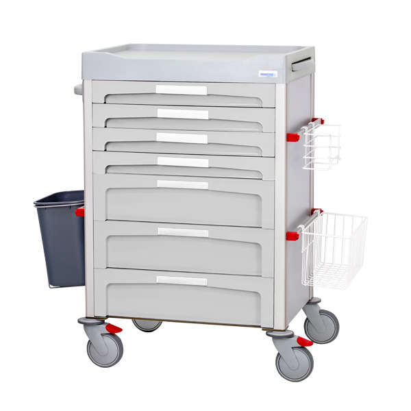 Gray treatment cart