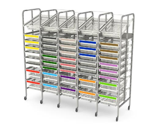 Metal rack for storage medical supplies