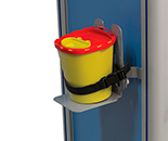 Yellow canister for sharp medical objects
