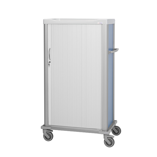 Procedure cart 1500 height with trays inside