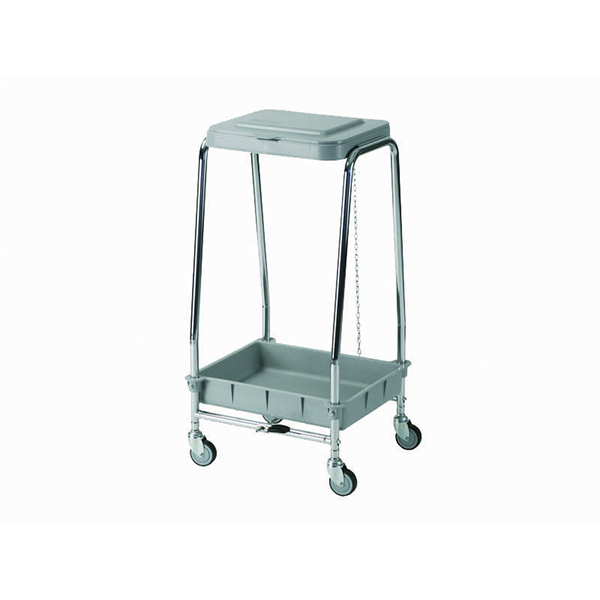 Dirty linen cart with wheels for 1 bag