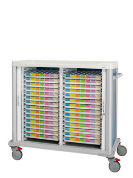 Medication cart for weekly distribution