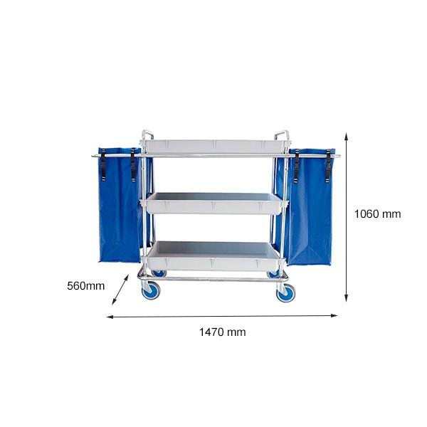 Dimensiones lineales del carro para transporte de mixto