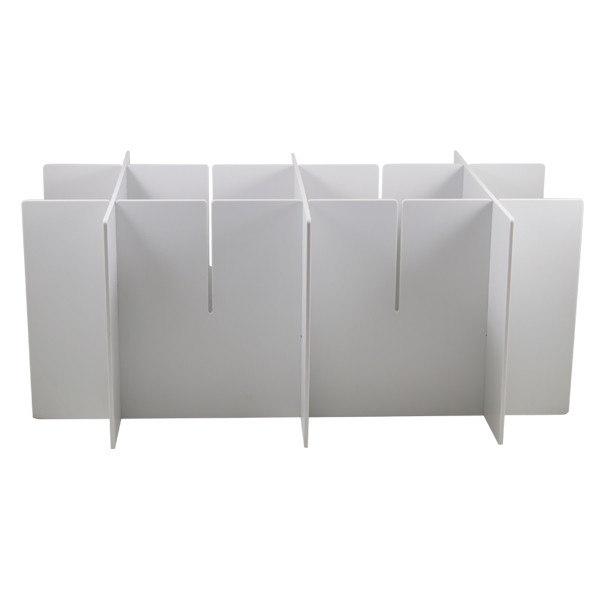 White metal structure for carrying gloves with capacity for three boxes
