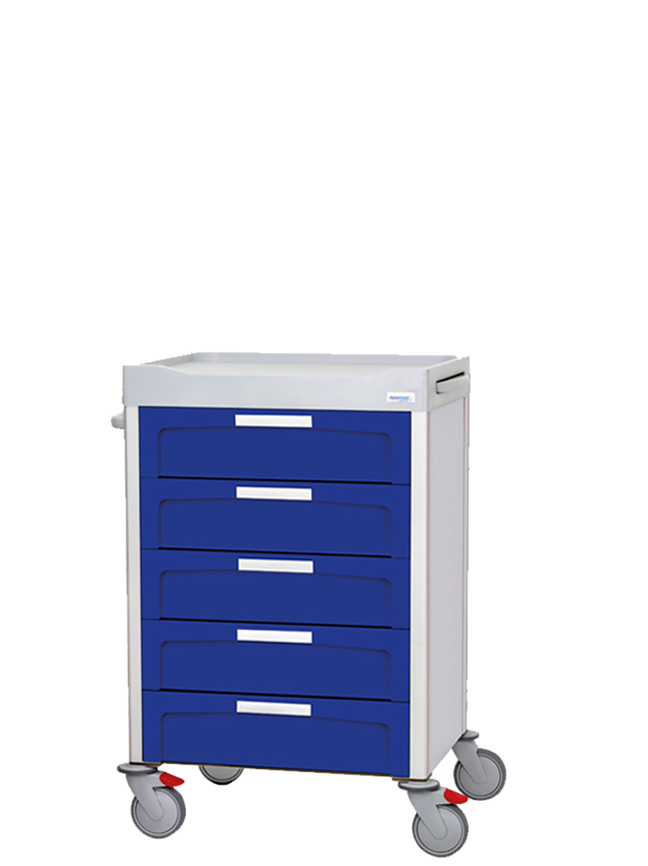 Pouches medication cart with drawers