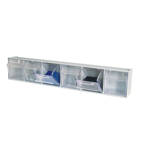 tilt bin storage cart with 9 boxes stuck in 2 levels